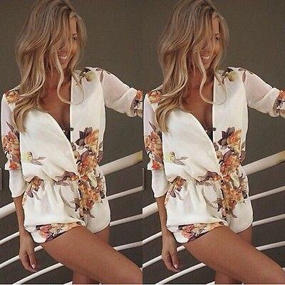 Модная Женская Клубная одежда с v-образным вырезом обтягивающий комбинезон для вечеринок комбинезон и комбинезон брюки