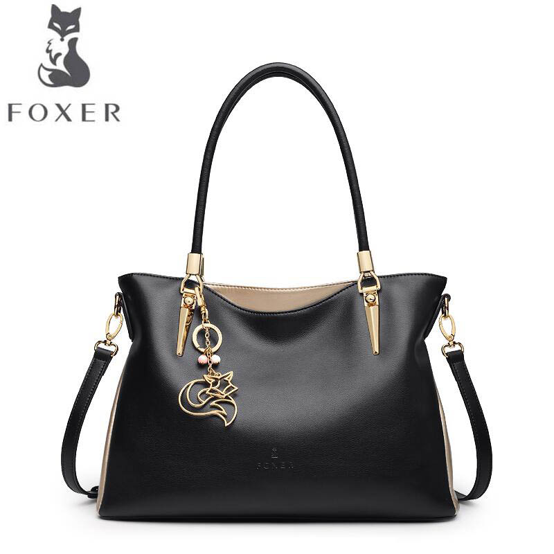 free delivery Cow leather handbag FOXER Women's handbag 2017 autumn new fashion Messenger bag Soft leather ladies shoulder bag free delivery cow leather handbag 2017 new fashion shoulder messenger bag fashion stitching small square bag chain bag