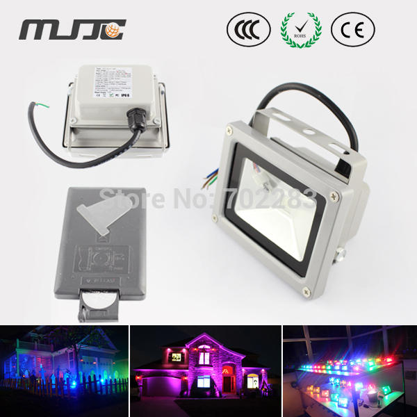 Ip65 10w Waterproof Outdoor Rgb Color Changing Led Flood Lights Wall