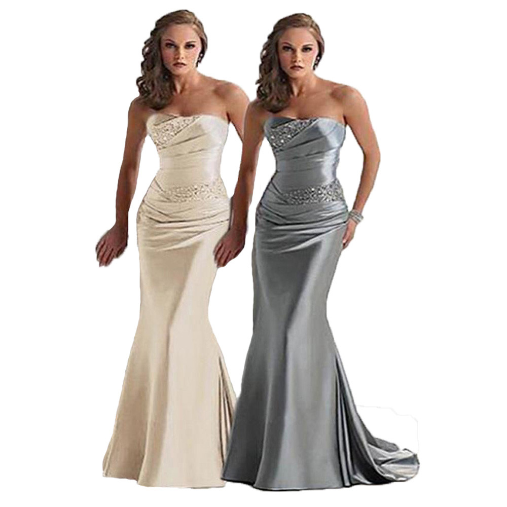 Ready 2016 In stock Promotion Mermaid Long   Prom     Dress   Beading Pleated Sweetheart Women   Prom     Dresses   Hot SALE free shipping
