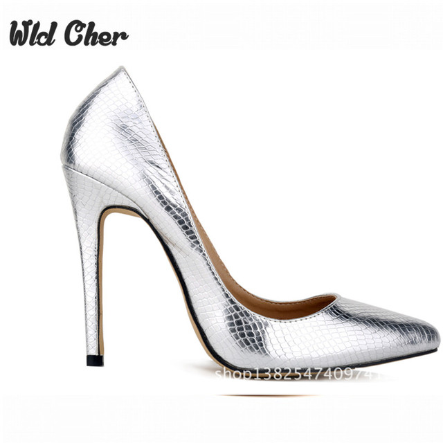 Luxury Light Color Patent Leather High Heels Sexy Metal Thin Heels Pointed  Toe Low Cut Night Club Pumps High Quality Woman Shoes 7fb13094f758
