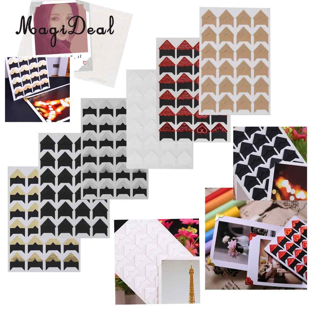 MagiDeal 5 Sheet (120 Pcs) 2x2cm Photo Corner Sticker for DIY Album Scrapbook  -China Cheap Picture Albums Material Supplier