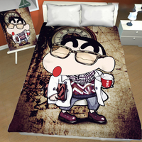 Crayon Shin chan Anime printing bed sheet Children Bedroom decoration bed sheet bedclothes bed linen comforter