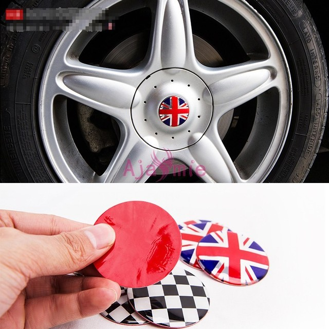 Accessories For BMW Mini Cooper Wheel Hub Cover Uk Flag Scratch Protector  Aluminium Alloy Chrome Car