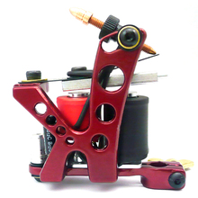 Hot Sale Tattoo Coil Machine Aluminum Alloy 10 Wraps Equipment Supply Liner Shader Gun Beauty Health Tools Free Shipping