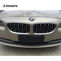 A Pair For BMW 5 Series F10 F11 F18 Car Front Grill Newest Diamond Style 2010 2016 5 Series F10 Mesh Grill