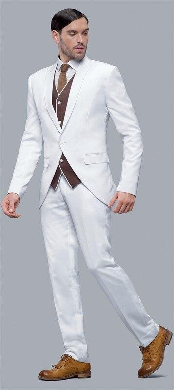 Aliexpress.com : Buy Latest Coat Pant Designs White Men Suit Slim ...