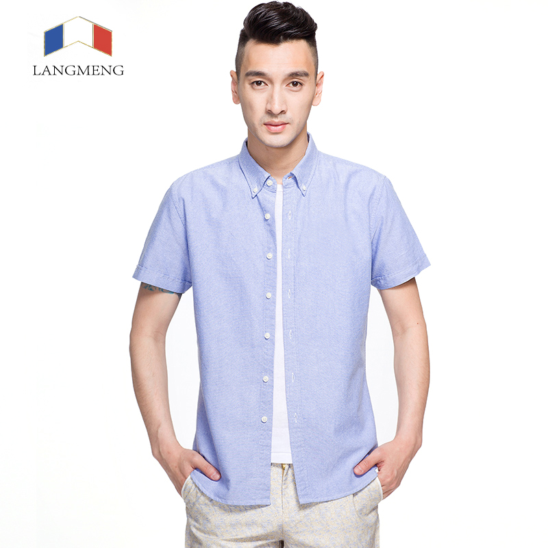Langmeng 100 cotton social white casual shirts for 100 cotton mens dress shirts