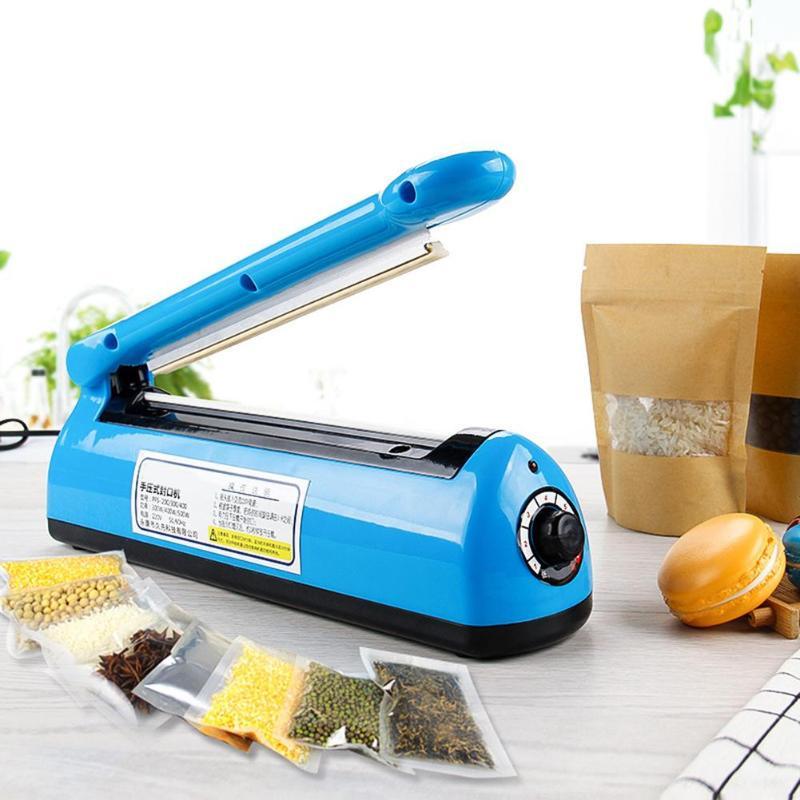 300 W Manual máquina de sellado sellador de embalaje alimentos cocina bolsa de plástico sellador hogar más cerca Kit