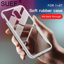 SUEF New Arrival Soft TPU Full Protect For Oneplus 6T Case 1+6 1+6T 1+ Transparent Phone Bags Cases Funda Anti-knock Capa