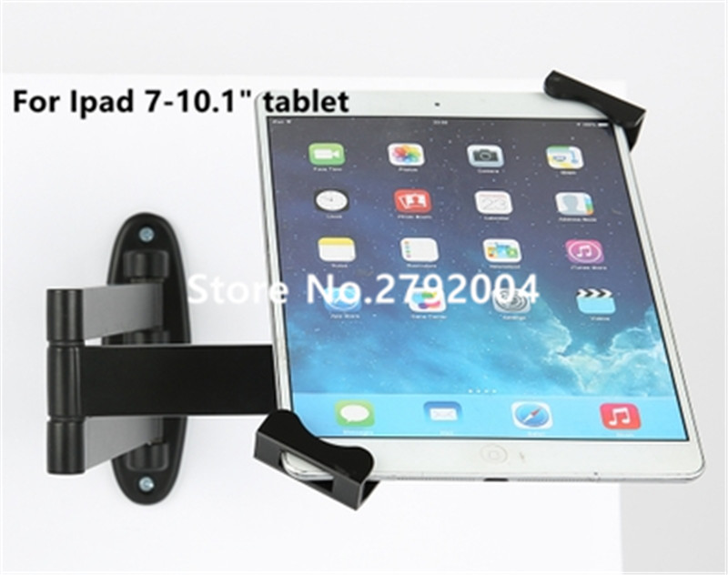 Metal Ipad security stand case flexible tablet wall desk mount tablet display holder lock enclosure with keys for 7-10 tablet metallic stretch laptop security display stand notebook computer desk mount anti theft lock for all kinds of laptop with keys