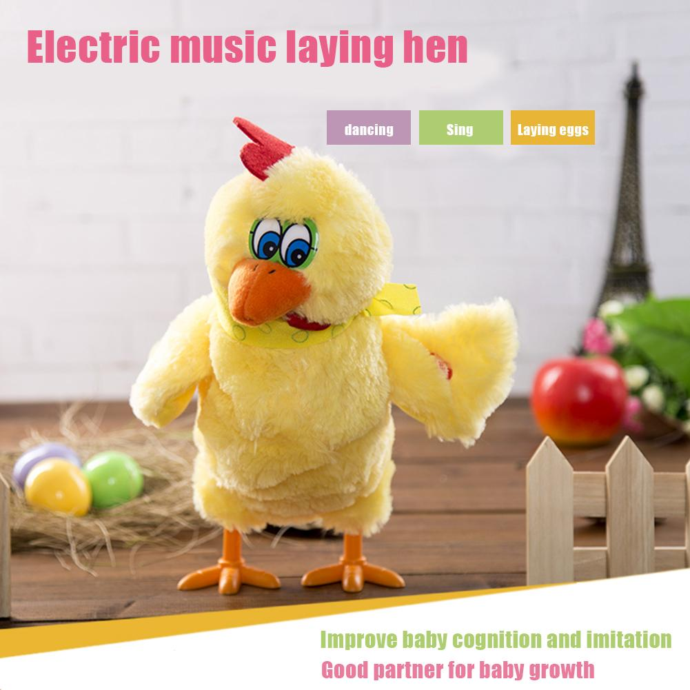 1pcs 30cm Funny Doll Raw Chicken Hens Will Lay Eggs Of Chickens Crazy Singing&dancing Electric Pet Plush Toys Gifts For Children image