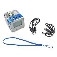 NIZHI TT-028 Digital FM Radio Mini Speakers Music Portable FM radio SD/TF USB Disk MP3 Player LCD Display Blue Color