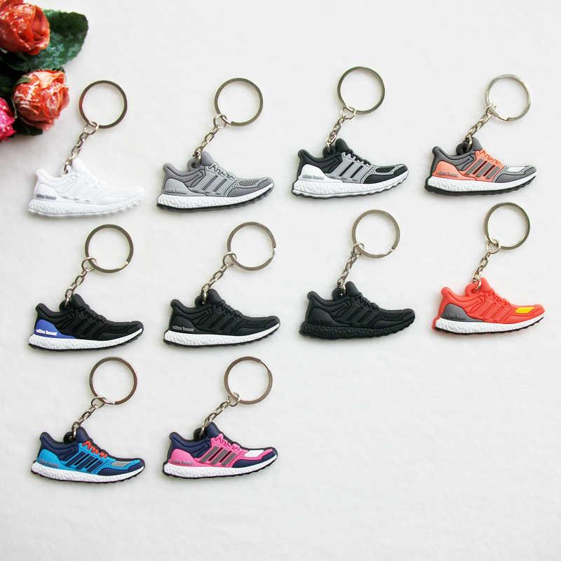 Mini Silicone Ultra Boost del Sacchetto del Keychain di Fascino Donna Uomo Bambini Regali Portachiavi Scarpa Da Tennis Portachiavi Accessori Jordan Scarpe Chiave catena