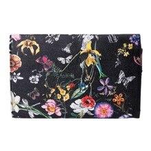 1PC Women Lady Flower Clutch Envelope Wallet Long Card Holder