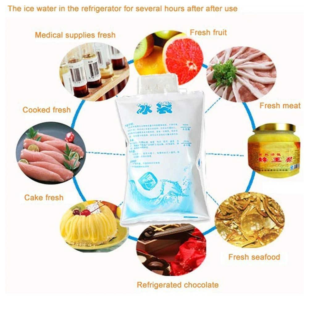 1 Pc Prático Refrigerador saco de Gelo Saco Isolamento Bloco de Gelo Reutilizáveis Gel Para Latas de Alimentos Caixa De Almoço Saco Do Refrigerador do Gelo 4 tamanhos para A Escolha