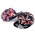 Men Women UK England flag Letter Elizabeth Tower BIG BEN Flat brim hat street dance skateboard Peaked Visor Hat  Adjustable DM#6