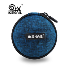 IKSNAIL Earphone Case Hard Headphone Bag For Airpods/Earpods/SD Card/USB Cable/W
