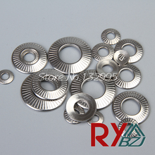 Lock washer NFE25511 / SN70093 french washers serrated conical spring washer Stainless Steel A2 M3 M4 M5 M6 M8 M10 M12 M16  100pcs din6798j m3 m4 m5 m6 m8 304 stainless steel washers internal toothed gasket washer serrated lock washer hw137