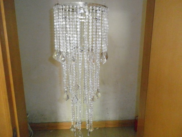 Acrylic Chandelier with metal stand
