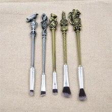 drop shipping Harry brush Pottor Wizard Wand Professional Makeup Brush Set 5pcs Eye Shadow Brush Makeup Tools Kit PARMIS BEAUTY