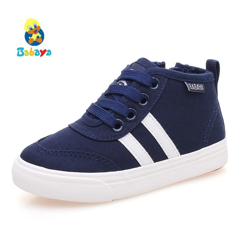 Children Canvas Shoes Boys Girls Sneakers Breathable 2018 New Spring Autumn Fashion Kids Casual Shoes For Girls High Shoes aadct 2018 new spring autumn casual sports children shoes breathable leather shoes for girls boys soft sneakers kids shoes
