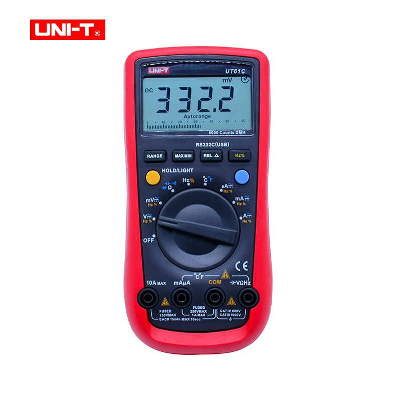Digital Multimeter UNI-T UT61C High Reliability Modern Digital Multimeters AC DC Meter CD Backlight & Data Hold Multitester клатч galib клатч