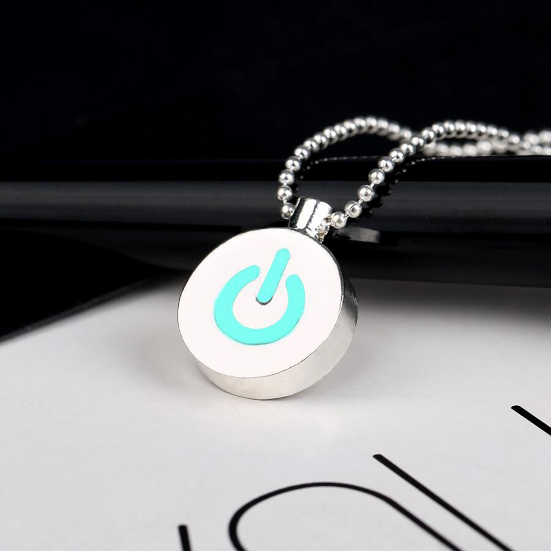 Creative Fluorescent Power Pendant Necklace Luminous Necklace Gift For Men And Women Jewelry Glowing In The Dark Necklace