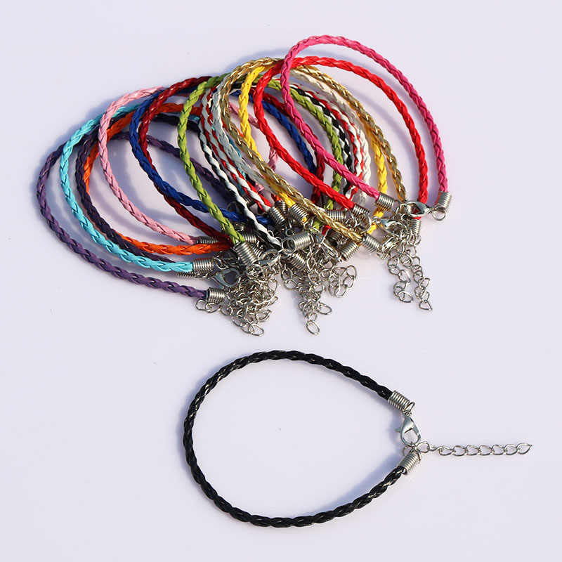 Military Crocodile Green Leather Necklace Rope Cord Lobster Clasp for Pendants