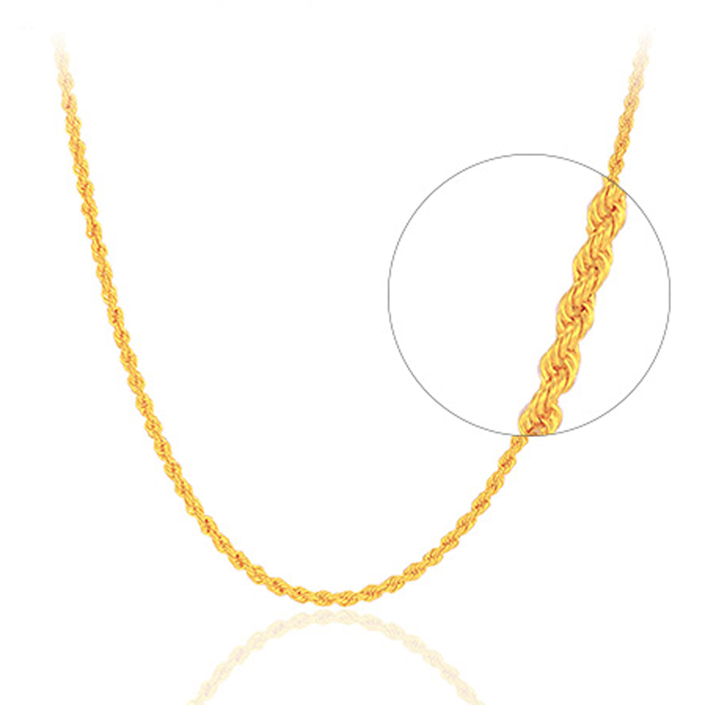 RINYIN Fine Jewelry Genuine 18K Yellow Gold Necklace Pure AU750 Twisted Singapore Chain 16 18 Inches mxm fan meeting singapore