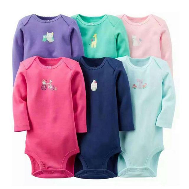 6 pçs/lote primavera outono do bebê da menina do menino roupas de manga longa set 6 peça de conjunto original crianças bebes baby clothing conjunto