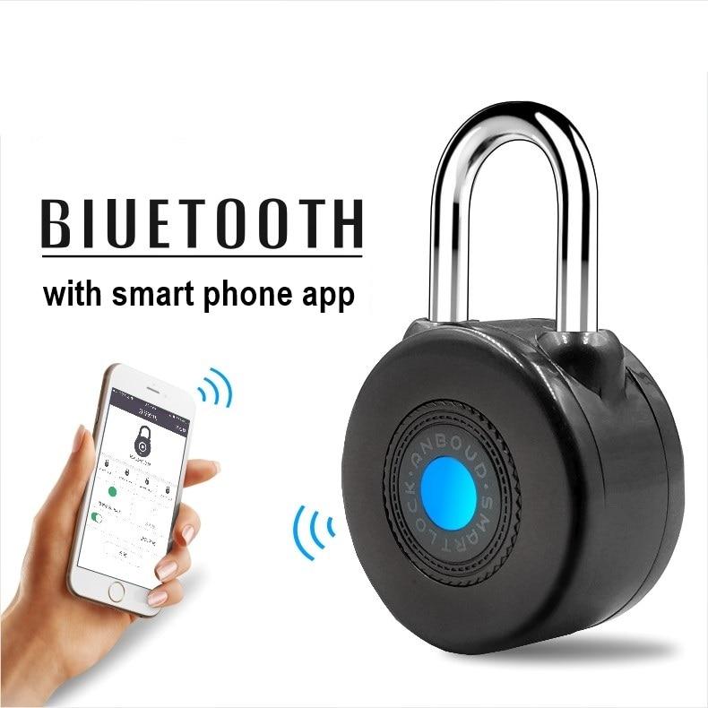 Electronic Wireless Lock Keyless Smart Bluetooth Padlock Master Keys Types Lock with APP Control for Bike Motorcyle Home Door