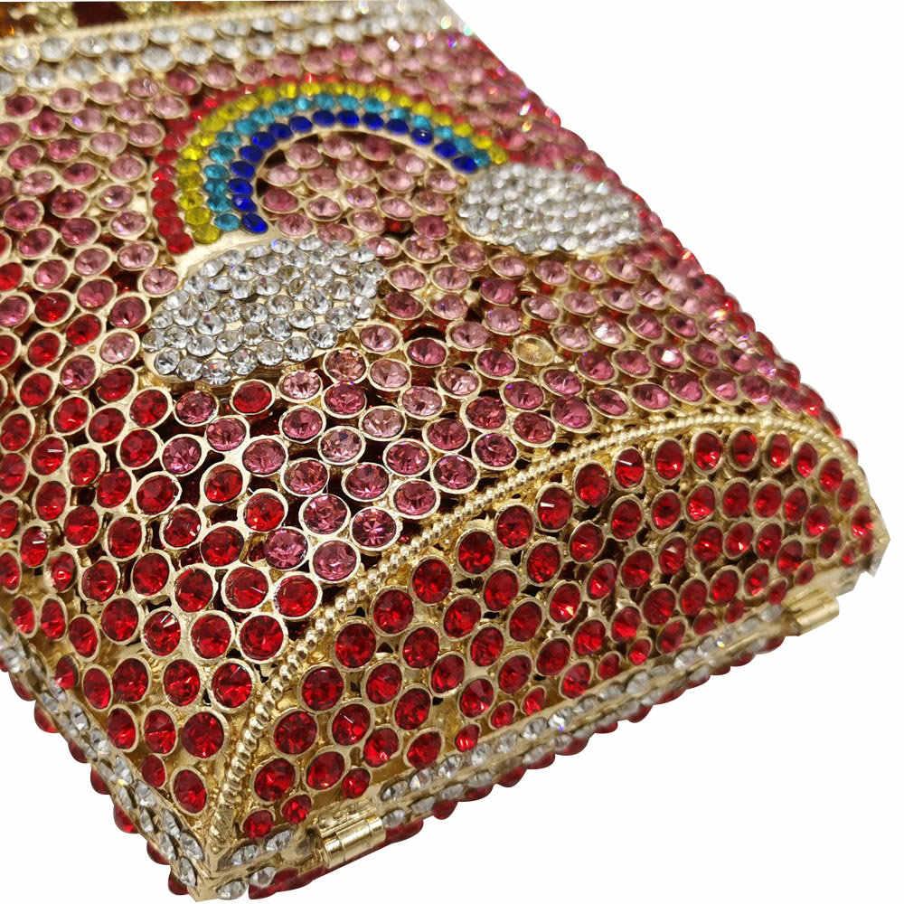 Бутик де фгг дизайнер картофель фри чипсы клатч для женщин Хрустальный вечерний клатч в стиле minaudiere алмаз свадебная сумочка свадебный кошелек