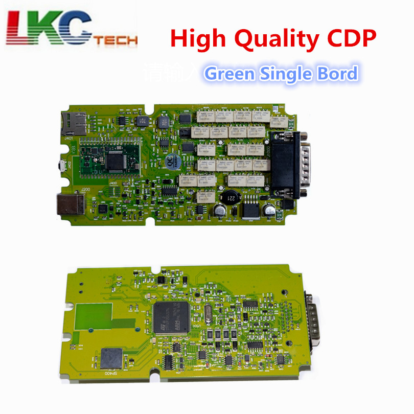 2018 A++ Quality Green Single Board CDP PRO TCS CDP bluetooth 2014R2/2015R3/2015.1 Software New VCI TCS CDP Pro Scanner