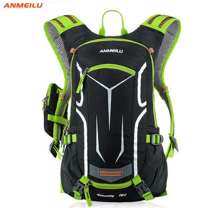 ANMEILU 18L Outdoor Sport Bags Rain Cover Unisex Waterproof Sport Camping Cycling Backpack Water Bladder Bags With 2L Water Bag