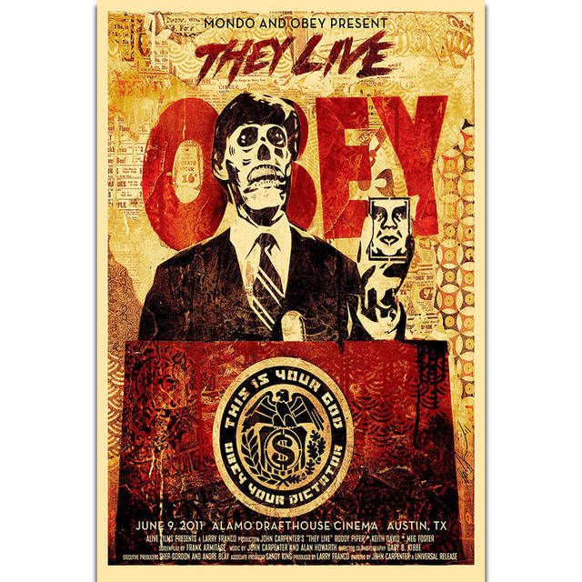 S1861 Obey Shepard Fairey They Live Mondo Amazing Wall Art Painting ...