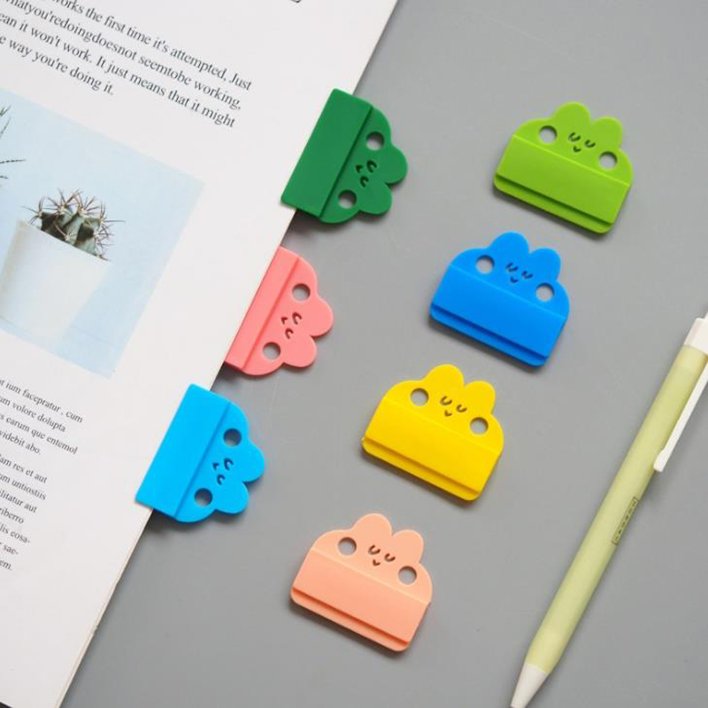 8 Pcs/pack Kawaii Rainbow Color Rabbit Index Touch Folder Clips Bookmarks Page Holder Index Separators For Notebook Stationery