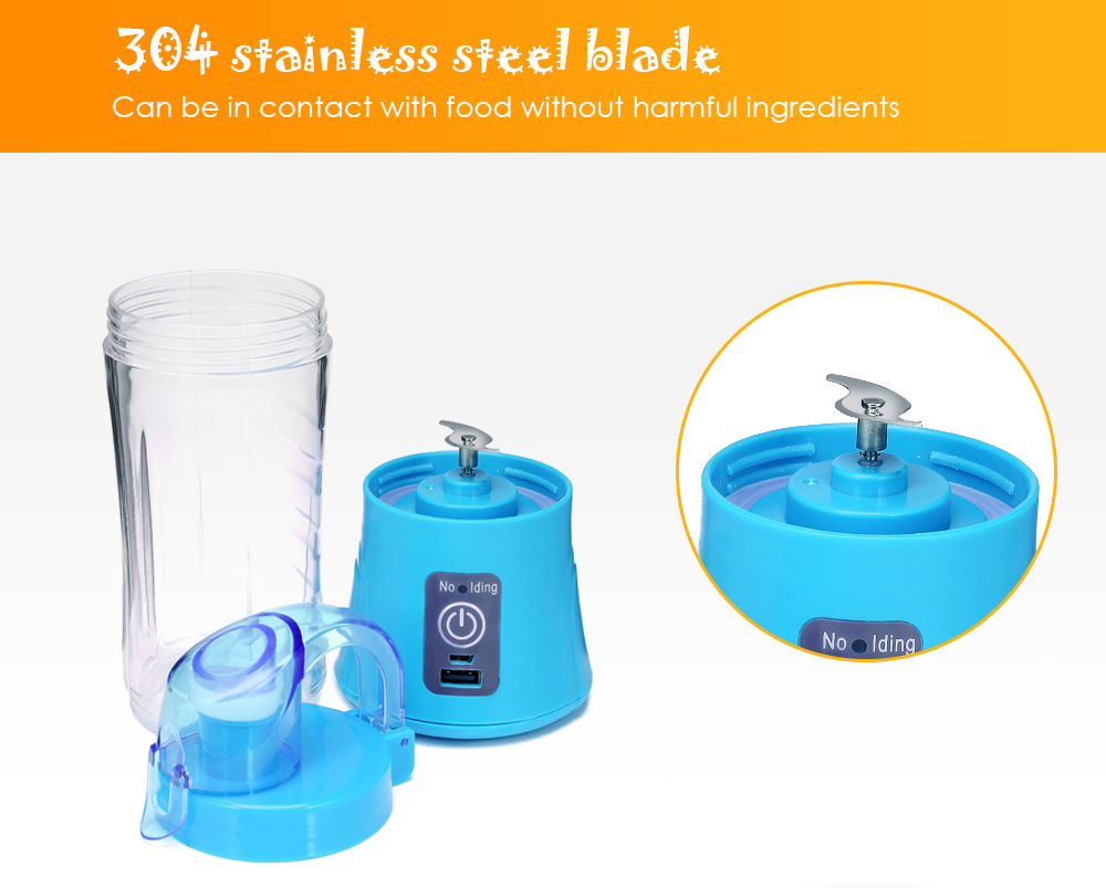 Portable Blender 380ml USB Rechargeable 9