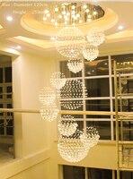 Дуплекс здания лестницы хрустальная люстра вилла фойе торговый центр отеля большой Люстры современная люстра Освещение