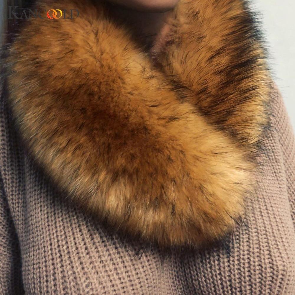 KANCOOLD Scarf Women Fashion Winter Scarves Pashmina Fur Imitation Fur Grass Party Casual Sexy Scarf Women 2018Nov2