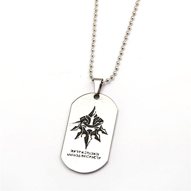 2017 New Online Game Jewelry NieR Automata Pendants Chain Length Dog Tag Necklace Choker Mens Jewelry Best Gift For Fans
