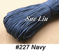 1mm 80M/pcs Navy Blue Waxed Cotton Cord Wax Bead String NCK10, 87yds=80m=260ft
