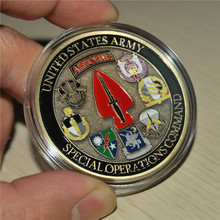Free Shipping 1pcs/lot,Hot sale U.S. Army Special Operations Command Sine Pari Challenge Coin.souvenir art and collectibles pari