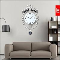 Modern brief swing living room wall clock fashion clock fashion clock mute quartz clock pocket watch