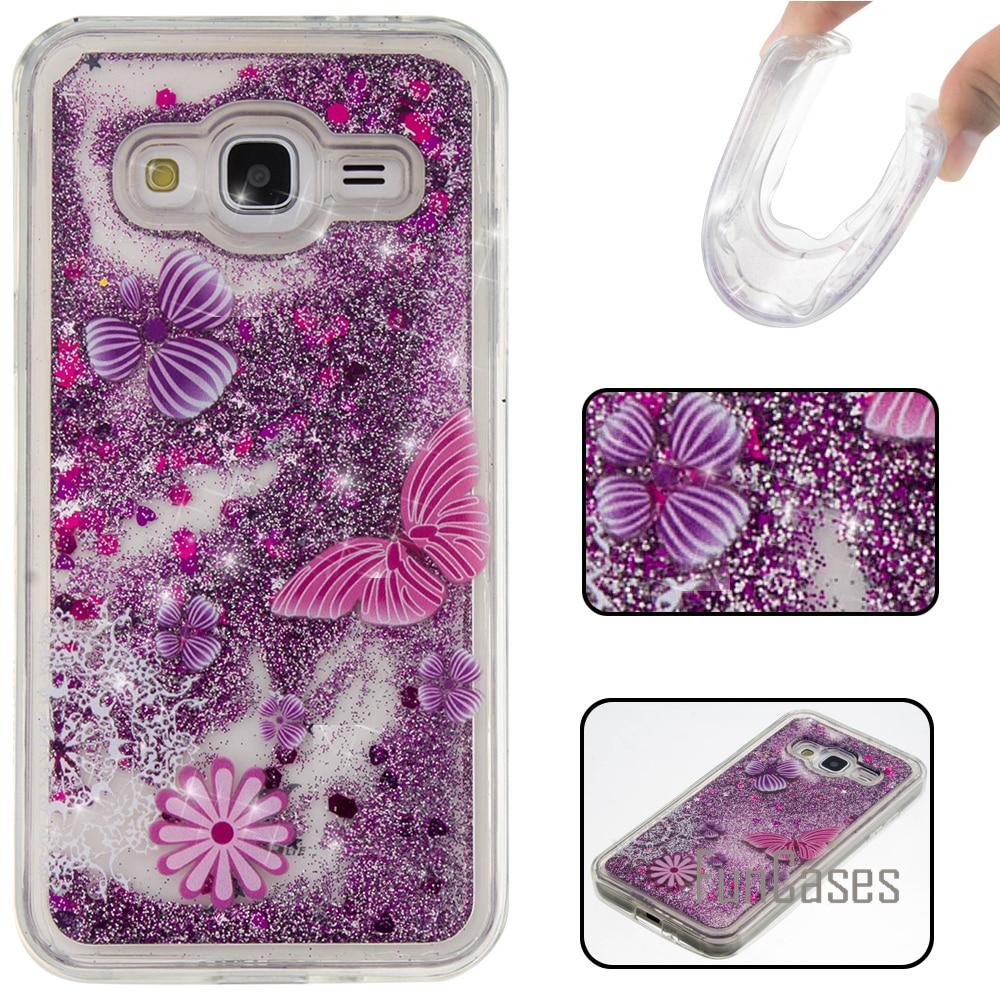 Galleria fotografica Dynamic Liquid Glitter Case for fundas Samsung Galaxy J3 2016 Case J3 2016 for coque Samsung J3 / J3 2016 Case Quicksand Case