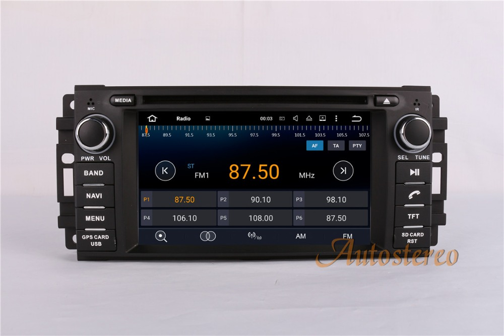 Android 7,1 Quad core dvd плеер gps навигация Радио стерео для Jeep COMMANDER WRANGLER 2007 2013 блок Авто мультимедиа