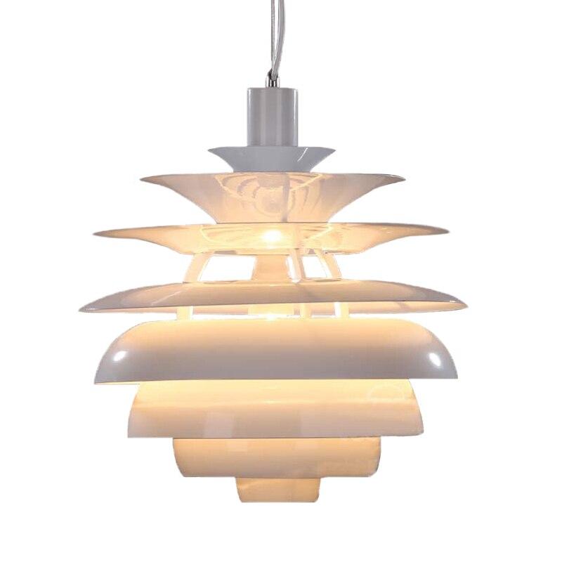 Moderne 40 CM En Aluminium pendentif lampe Blanc Boule De Neige Pendentif Lumière Chambre À Manger danois E27 luminaires suspendus