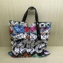 Neue Mode frauen Handtasche Geometrische Muster farbe totesbeutel Schulter tasche Gleiche Wie BAOBAO GITTER design 8*8 Gitter