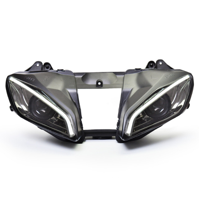 KT Headlight for Yamaha YZF R6 2006-2007 LED Optical Fiber Eye Motorcycle HID Projector Assembly