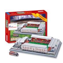 Candice guo brinquedo do enigma 3d diy modelo de construção papel highbury estádio de futebol de futebol jogo de montar o trabalho de mão conjunto presente de aniversário
